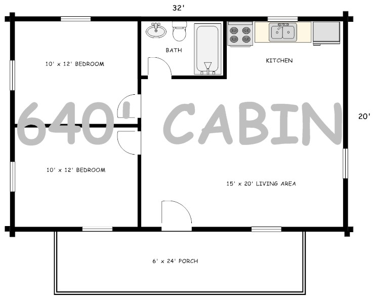 16x24 Cabin With Loft | Joy Studio Design Gallery - Best Design